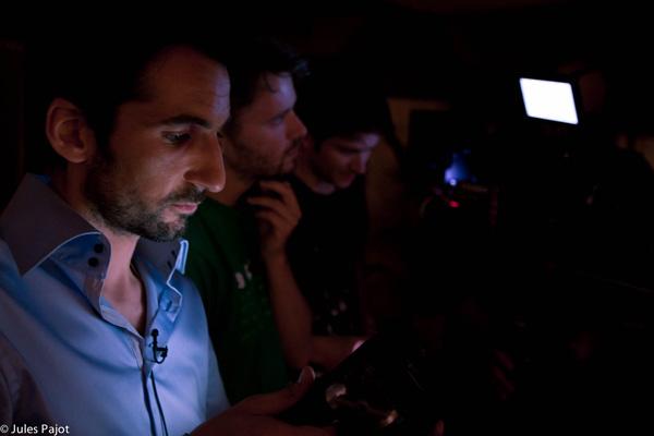 Sur le plateau de « La page blanche », mon 3e court métrage derrière la caméra, 2011. Photo d'Aurélien Pallier-Colinot