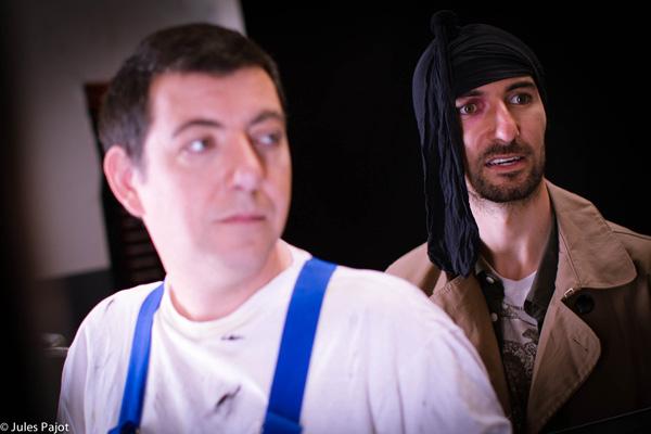 « La page blanche », avec Thierry Jumel, également acteur sur « Travailler plus... ». Photo de Jules Pajot. 2011